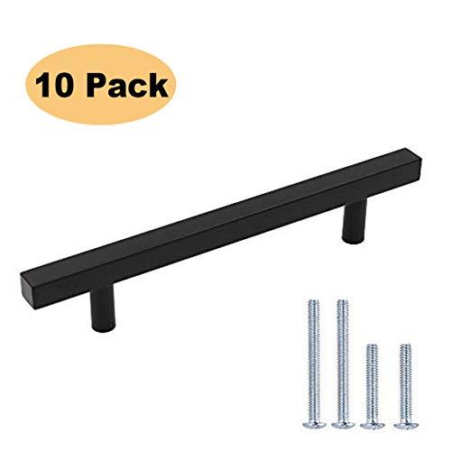 Peaha 5 in Cabinet Handles Black Kitchen Cabinet Pulls Black 10 Pack PHJ22BK 128mm Cabinet Pulls Modern Cabinet Hardware for Desk, Bathroom, Bedroom
