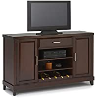 New Classic Naples Entertainment Console, Distressed Walnut