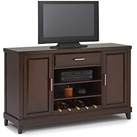 New Classic Naples Entertainment Distressed Walnut Console