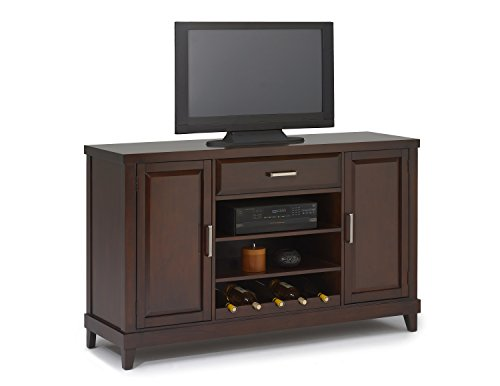 New Classic Naples Entertainment Console, Distressed Walnut (Dining Room Walnut Armoire)