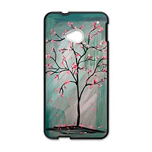 Unique pink tree Cell Phone Case for HTC One M7