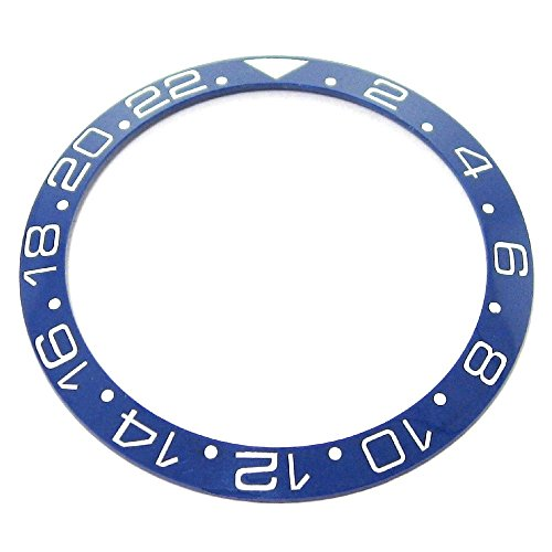 Gmt White Ceramic (Bezel Insert To Fit Rolex Men's GMT - Blue / White Ceramic)