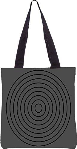 Snoogg Circular Ziel 2902 13,5 x 15 Zoll-Shopping-Dienstprogramm-Einkaufstasche aus Polyester-Segeltuch gemacht