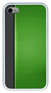 iphone 4S poetic cases patterns abstract green35 TPU White for Apple iPhone 4/4S