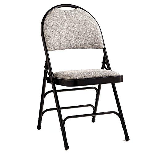 Samsonite Furniture Comfort Series Steel & Fabric Folding Chair Black (Samsonite Fabric Chair)