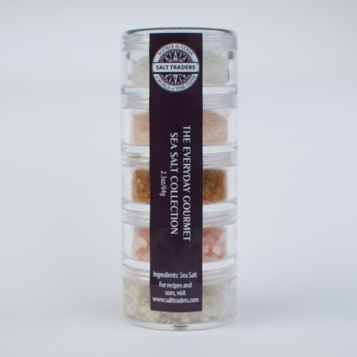 SALT TRADERS Everyday Gourmet Sampler Collection. A unique collection of gourmet sea salts perfect for everyday use.