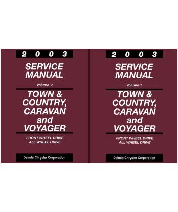 2003 Town & Country Caravan Voyager Shop Service Repair Manual Book Engine OEM