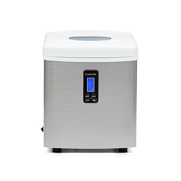 Klarstein Mr. Silver-Frost - Macchina per Cubetti di Ghiaccio, 15 kg/24 h, 150 Watt, 3 Dimensioni Cubetti, Preparazione… 3 spesavip