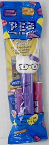 Nerdy Hello Kitty Pez Candy Dispenser in Cello with 2 Rolls Candy -