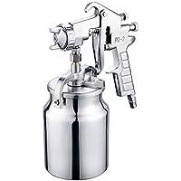 Nuzamas Ventouse Fil d'air Spray Pistolet à peinture inoxydable 2.0mm Buse Capacité 1000ml Airbrush Outil de peinture pour auto meubles Peinture à main Pulvérisateur de peinture