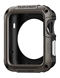 Spigen Tough Armor Apple Watch Series 2 Case with Extreme Heavy Duty Protection and Built In Screen Protector for Apple Watch Series 2 42mm (2016) - Gunmetal