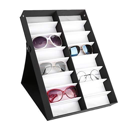 TMISHION 16 Mesh Glasses Display Cabinet Sunglasses Storage Box Glasses Jewelry Storage Box Sunglasses Display ()