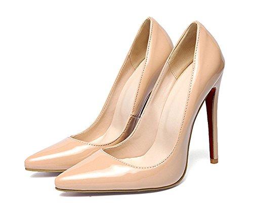 Simple Dress Womens Pumps Classic Shoes Apricot Aisun High Stiletto Heels q6tEwP