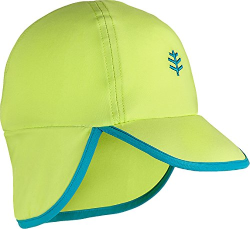 Coolibar UPF 50+ Baby Splashy All Sport Hat - Sun Protective (6-12 Months- Bright Lime/Scuba - Sun Safety Month