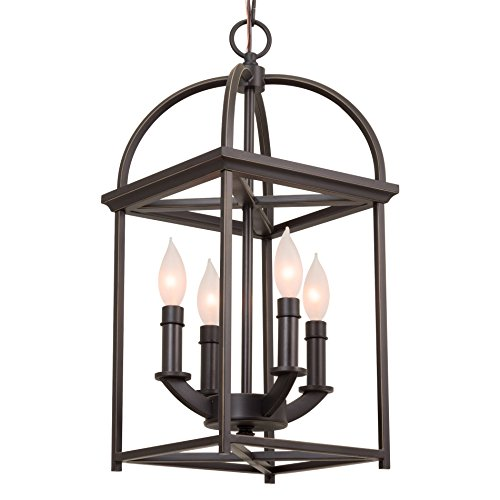"Kira Home Amesbury 21"" Foyer Bird Cage Lantern 4-Light"