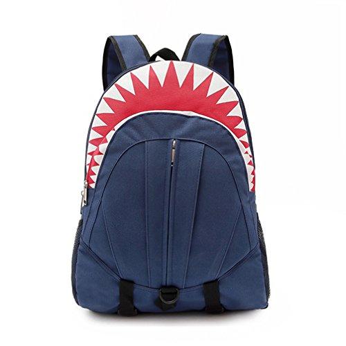 LuckyZ Toddle Kids 3D Shark Backpack Cute Cartoon School Sidesick Bags, Blue