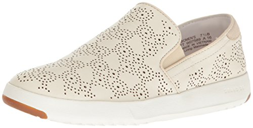 Cole Haan Women's Grandpro Paisley Perforated Slip On Slip-On Loafer, Argento, 10.5 B US