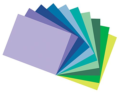 Pacon Corporation Construction Paper (Pacon Tru-Ray Construction Paper Assortments, 12-Inches by 18-Inches, 50-Count, Cool Assorted (102943))
