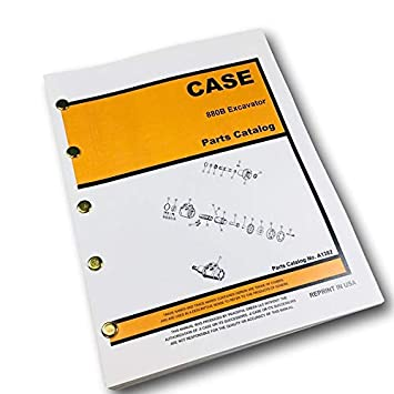 Amazon com: Case 880B Crawler Track Excavator Parts Manual Catalog