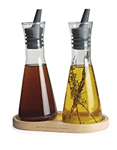 Universal Expert Oil and Vinegar Set with Caddy, Transparent by Universal Expert