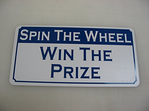 he Prize Metal Sign Casino Carnival Fair Machine Blue ()