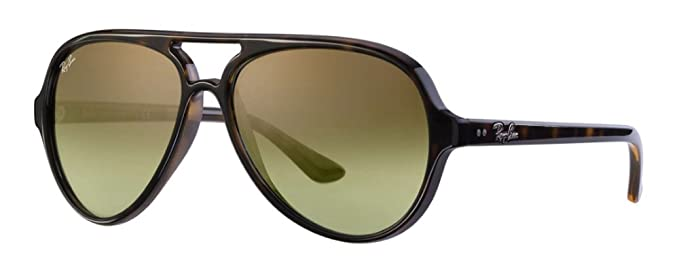 fb8a9049fa Ray Ban Men s Cats 5000 Aviator Sunglasses (Dark Havana Frame Green 15 Lens)