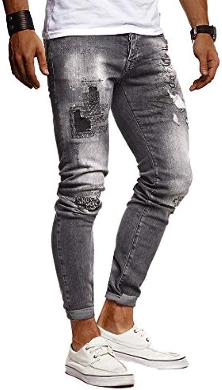 Leif Nelson Męskie dżinsy Slim Fit Denim niebieskie szare długie spodnie jeansowe dla mężczyzn cool chłopcÓw białe stretch spodnie rekreacyjne czarne cargo chino lato zima Basic LN9315: