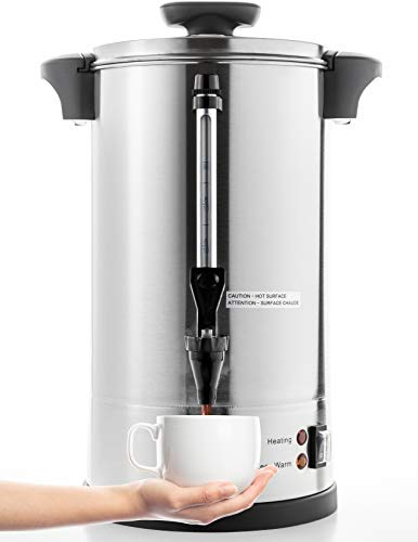 SYBO SR-CP-50C Commercial Grade Stainless Steel Percolate Coffee Maker Hot Water Urn for Catering, 8 L, Metallic