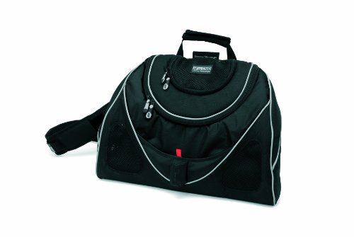 Petego Contour Messenger Bag Pet Carrier, Black Label, - Messenger Dog Bag