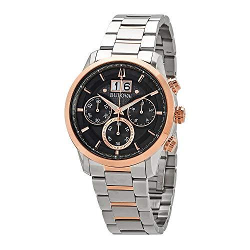 Men's Bulova Sutton Chronograph Grey Dial Watch 98B335