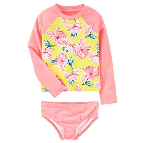 - Megartico Girls' Swimsuit Rash Guard Kids Long Sleeve Bathing Suit Two Piece Sun Protection - Beach Sport Surf