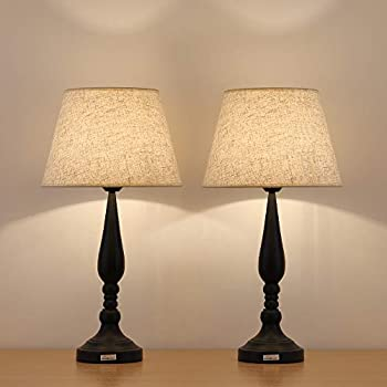 Haitral Modern Night Lamps Set Of 2 Contemporary Bedside