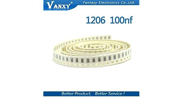 100pcs 0805 CAPACITOR 100NF 104K X7R 50V 0.1UF SMT SMD CHIP CAP