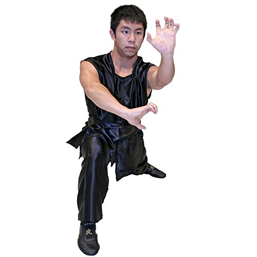 Tiger Claw Kung Fu (Kungfu) Uniform Black Silk Southern Style - Extra Small