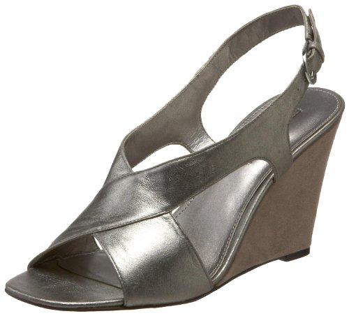Bandolino Womens Thanku Wedge Sandal Taupe Läder