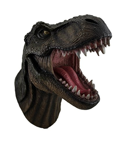 DWK - Jurassic King T-Rex Tyrannosaurus Rex Dinosaur Wall Mounted Head Statue Bust - 15 Inches Long ()