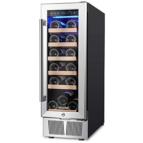Wine Cooler, Built-in or Freestanding, AMZCHEF 19 Bottle Wine Refrigerator, Quiet, Constant Temperature, Energy Efficient by AMZCHEF (Image #8)