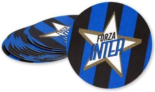 F.C Inter SOTTOBICCHIERI di Carta Confezione da 12 Pezzi Prodotto Ufficiale