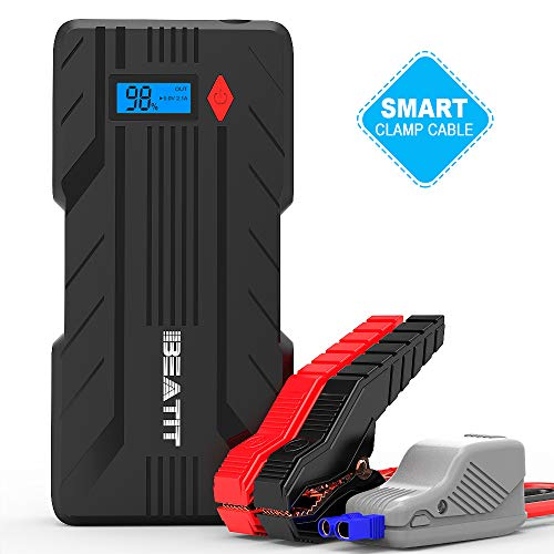 Beatit B7 PRO QDSP 1200A (Up to 8.0L Gas or 6.0L Diesel Engines) 12V Portable Car Jump Starter Auto Battery Booster with Smart Jumper Cables