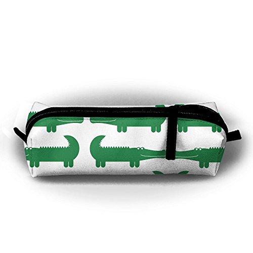 EWFBVa Durable Zipper Stationery Bag Cartoon Green Alligator Big Capacity Pencil Case - Alligator Pencil