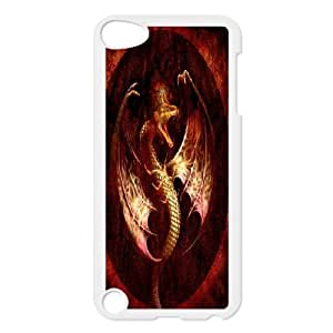 Dragon Discount Personalized Cell Phone Case for iPod Touch 5, Dragon iPod Touch 5 Cover Kimberly Kurzendoerfer