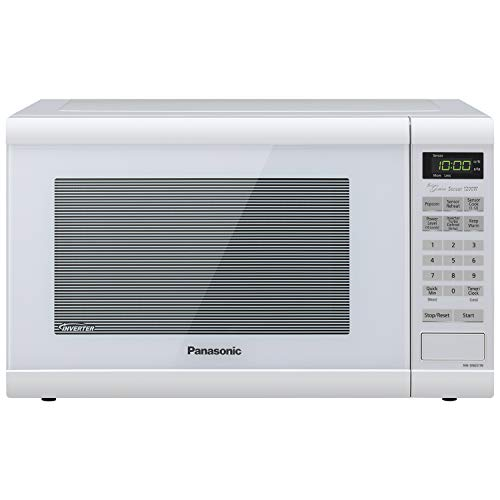 Panasonic Microwave Oven NN-SN651WAZ White Countertop with Inverter Technology and...