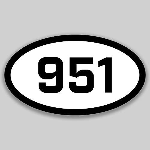 DHDM 951 Area Code Sticker California Riverside Banning Corona City Pride Love | 5-Inches by 3-Inches | Premium Quality Vinyl UV Resistant Laminate PD2094 -