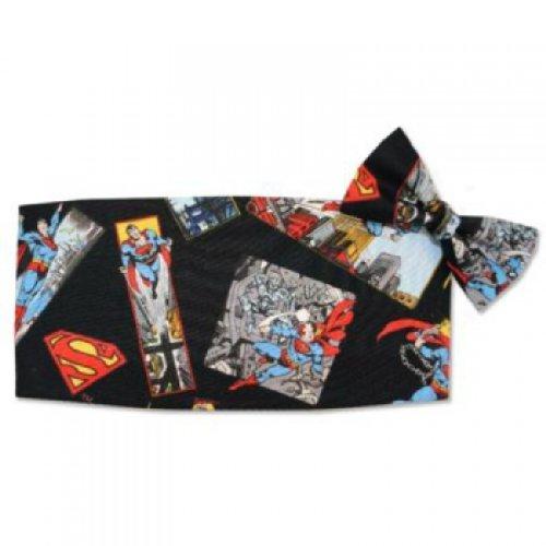 Superman Tuxedo Cummerbund and Bow Tie