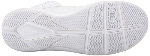 Adidas Cloudfoam Noir 6 Grey white clear Basketball Onix Ventilation Mã©tallique White Performance Blanc 5 Argent Mid Shoe 51rwYrxaqv