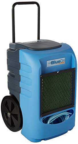 BlueDri BD-BD-75C-BL Commercial Industrial Grade 75 Pint Dehumidifiers for Basements at Homes and Job Sites, Blue