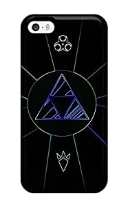 For Iphone 5/5s Premium Tpu Case Cover Triforce Video Game Protective Case