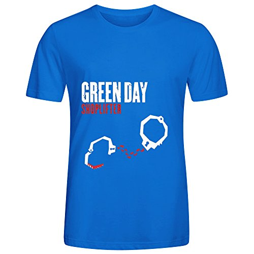 Turkish Tile Apparel (Green Day Shoplifter R&B Album Cover Men Crew Neck Art Tee Shirts)