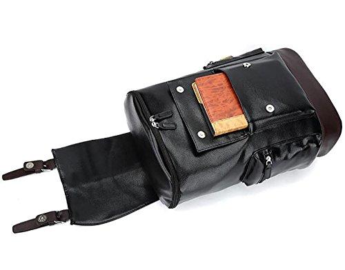 Rucksack Schulter Tasche Mann reine Farbe stilvoll reisen große Kapazität Laptop-Tasche