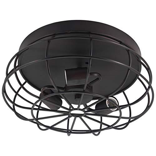 - Retro Rustic Semi Flush Mount Ceiling Light Fixture, Industrial Vintage Metal Cage Pendant Lighting Fixture for Kitchen Living Room Bedroom Hallway Stairway Garage Loft Farmhouse,E26/E27